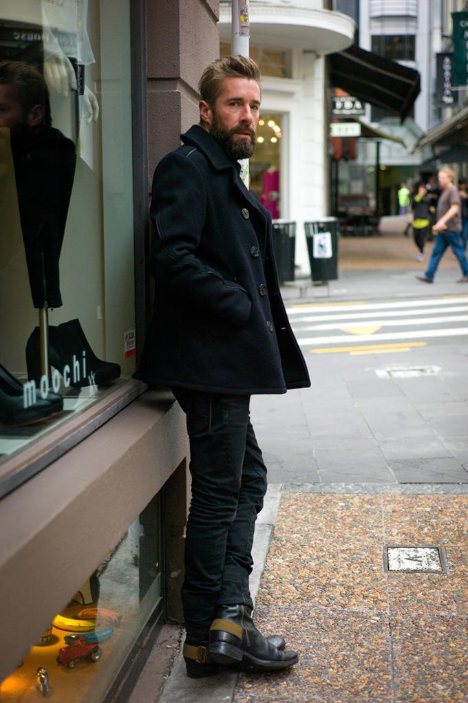 NZ street style, Schott clothing, motorbike boots, NZFW2013, street style, street photography, New Zealand fashion, hot models, auckland street style, hot kiwi men, kiwi fashion