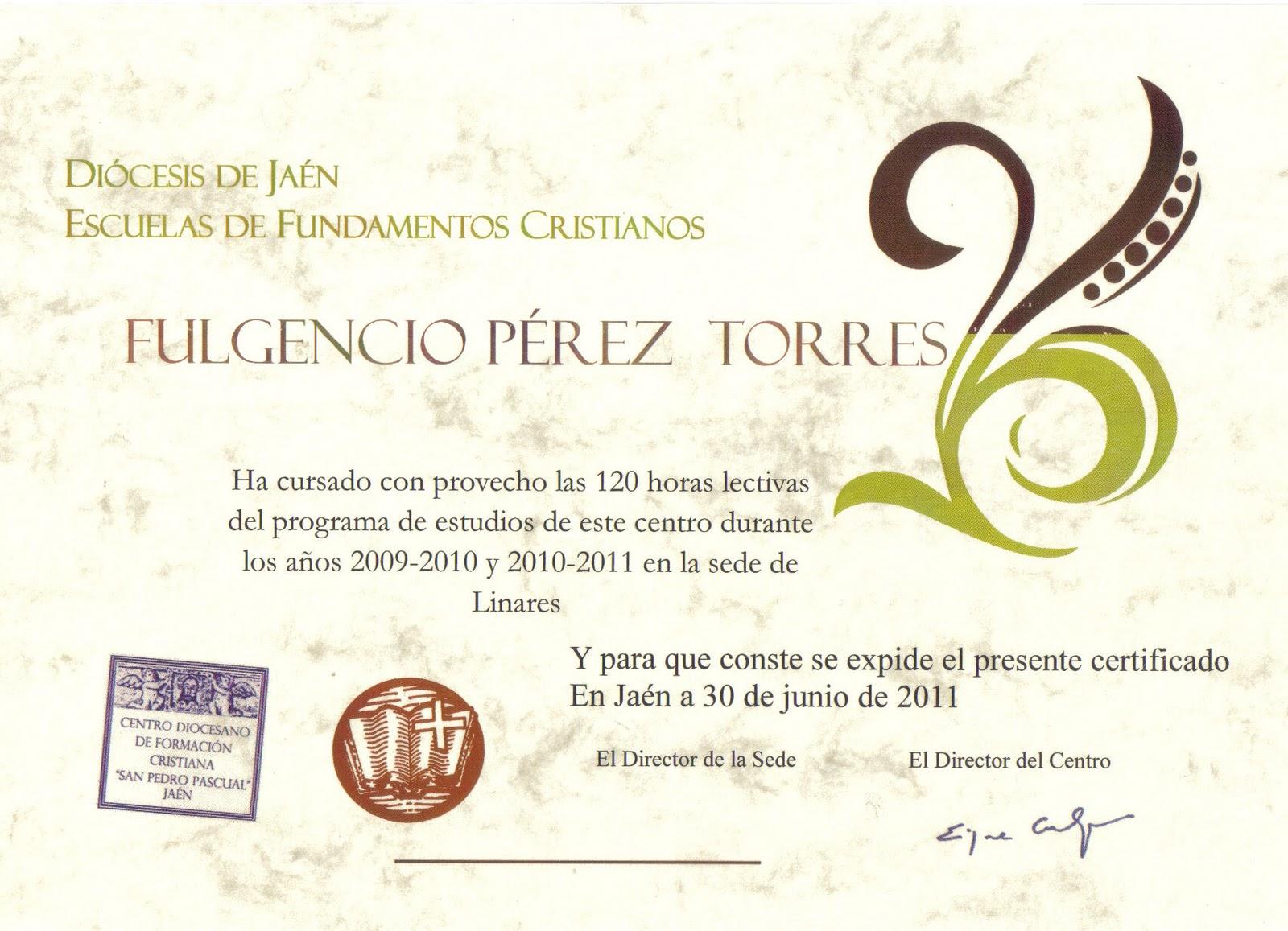 "TRES CAIDAS""-LINARES.: ENTREGA DE DIPLOMAS DEL CURSO DE ..."