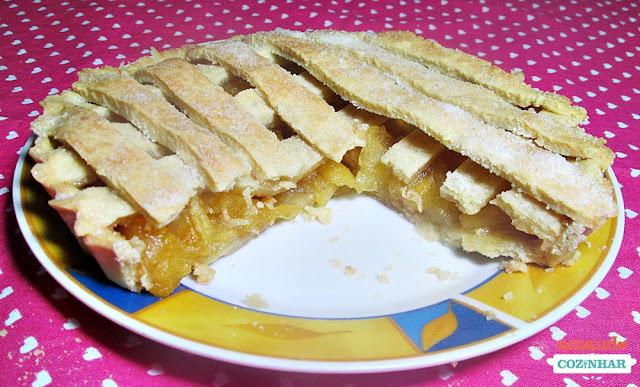 receita Torta de maçã caramelizada