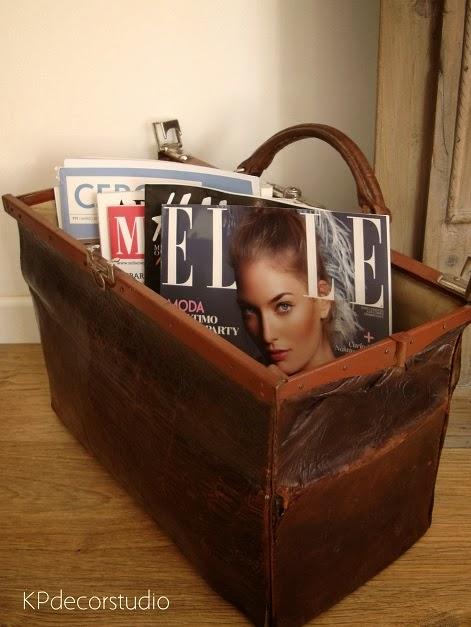 Revisteros vintage online revistas almacenaje elle - ad decoración revisteros antiguos.
