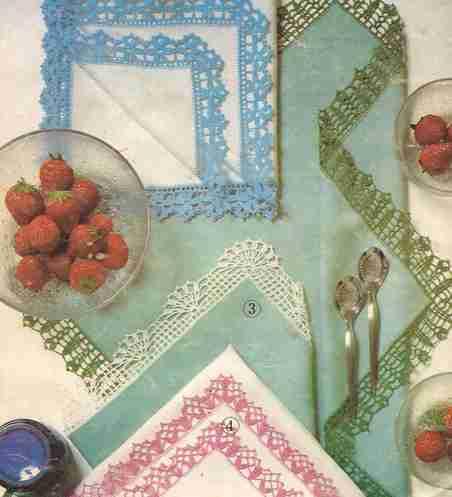 Puntillas para servilletas a Crochet