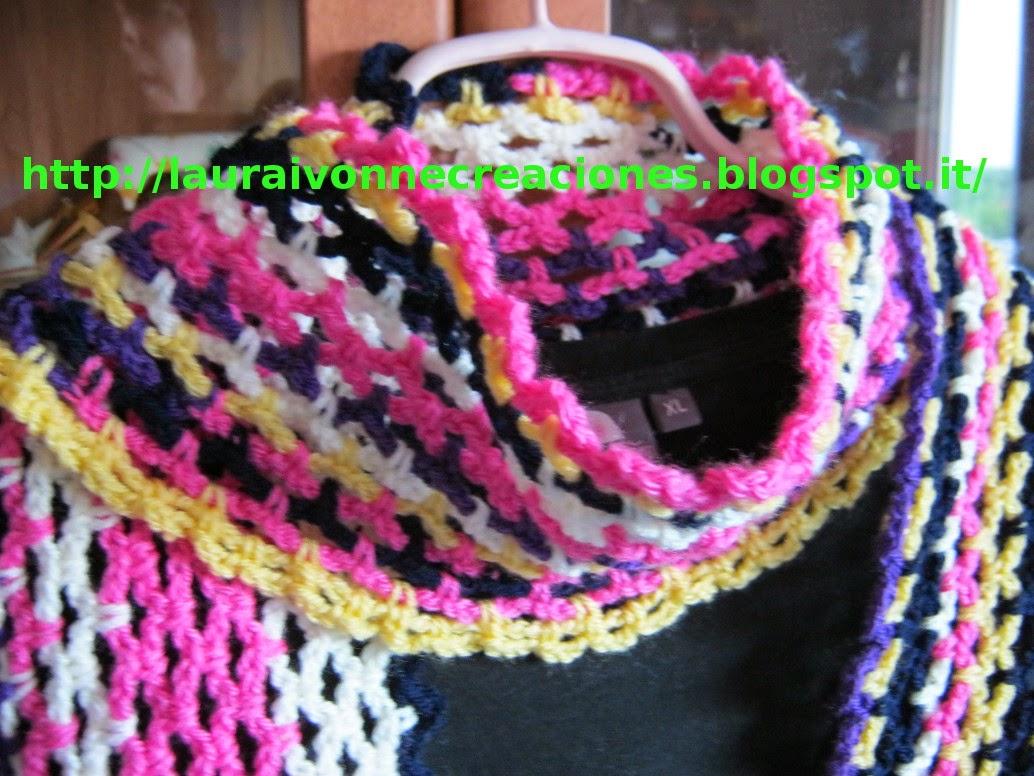Laura ivonne creaciones bufanda o chalina multicolor a - Reciclar restos de lana ...