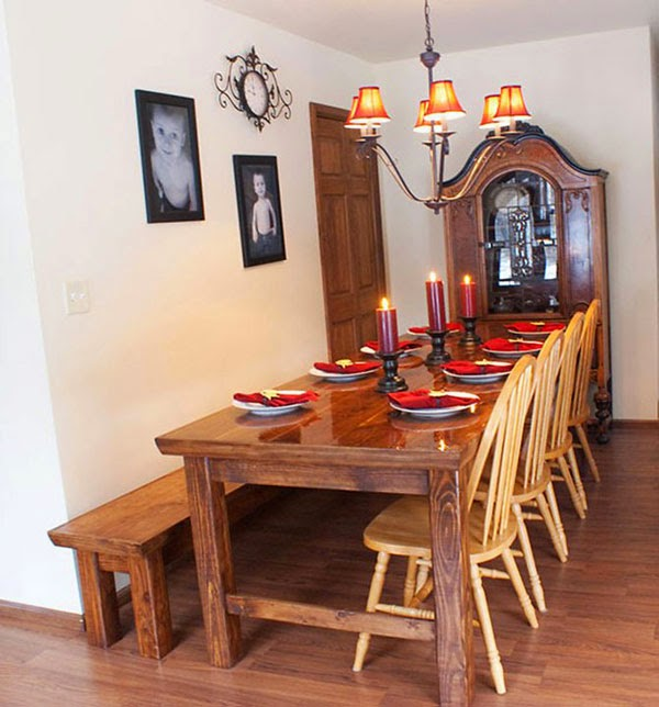 Make Your Home More Beautiful by Using Inside Benches and System Kitchen Table