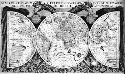 Mapamundi por Johannes Kepler, 1627