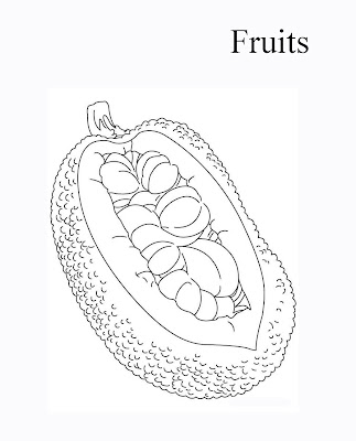 Free Jackfruit Coloring Pages Pictures