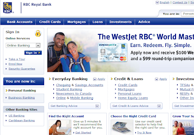 RBC Royal Bank home page