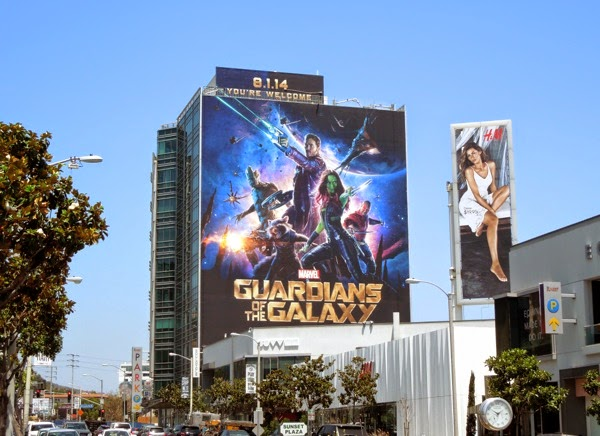 Giant Guardians of the Galaxy billboard Sunset Strip