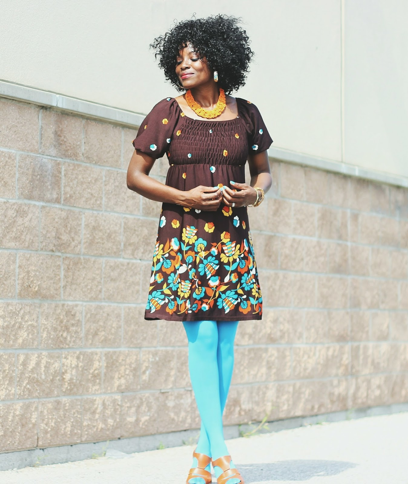 Boho and Retro style outfit mix with a gypsy dress