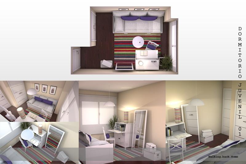 By sandra dormitorio juvenil youth for Dormitorio 8m2