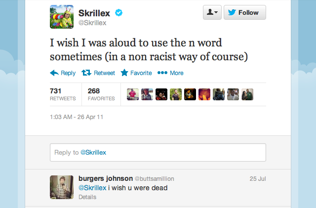 The wit and wisdom of Skrillex, ladies and gentlemen.