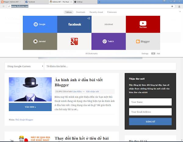 Giao diện trình duyệt Yandex