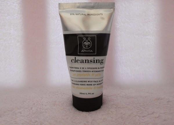 Crema limpiadora 3 en 1 facial y para ojos de apivita