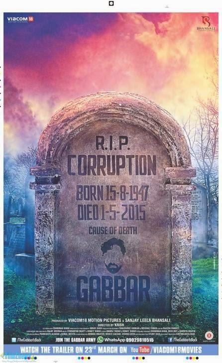 Gabbar Is Back (2015) New Poster 3