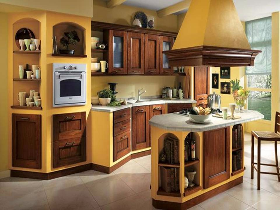home decor luxurious brown kitchens with amazing yellow