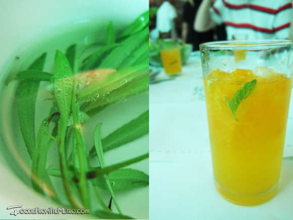 Tarragon Tea and Dalandan Juice of Sonja's