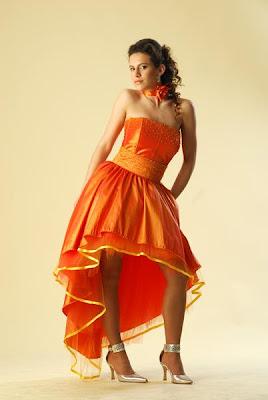 Vestidos de Fiesta de color naranja