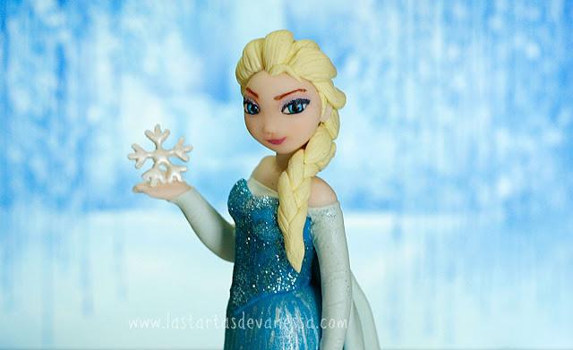 Elsa de fondant ( frozen)