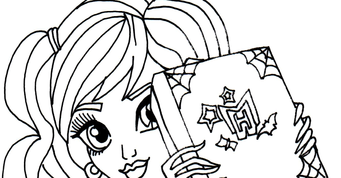 free printable monster high coloring pages twyla scaremester monster high coloring page - Scary Monster High Coloring Pages