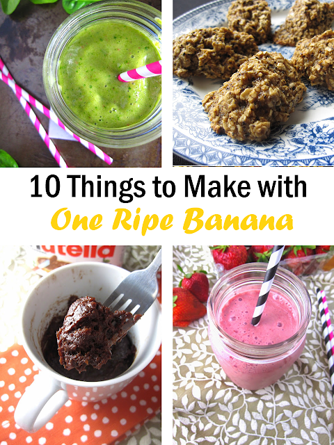 10 Things To Make With Only One Ripe Banana