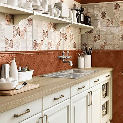 Terra antiqva azulejos zaragoza gres y ceramica cocinas - Azulejos rusticos para cocinas ...
