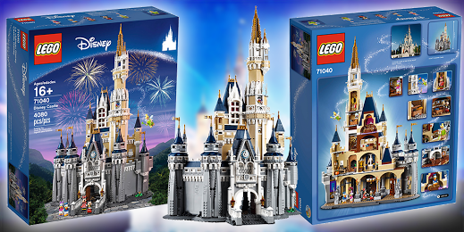 Win a LEGO DISNEY CASTLE worth $450.00 or a $450.00 AMAZON GC!!
