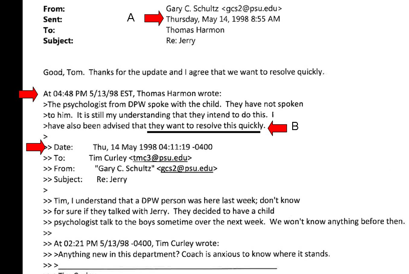 second mile sandusky scandal altered e mail found in