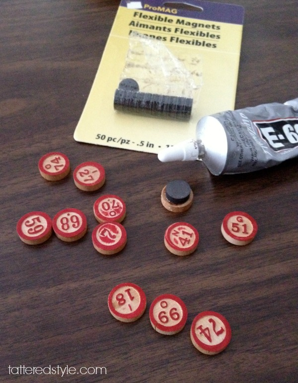 Tattered Style BINGO Marker Magnets Electrical Panel
