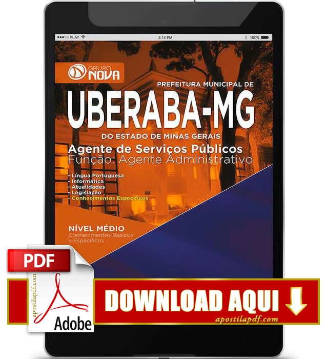 Apostila Uberaba MG 2015 Agente Administrativo PDF Download