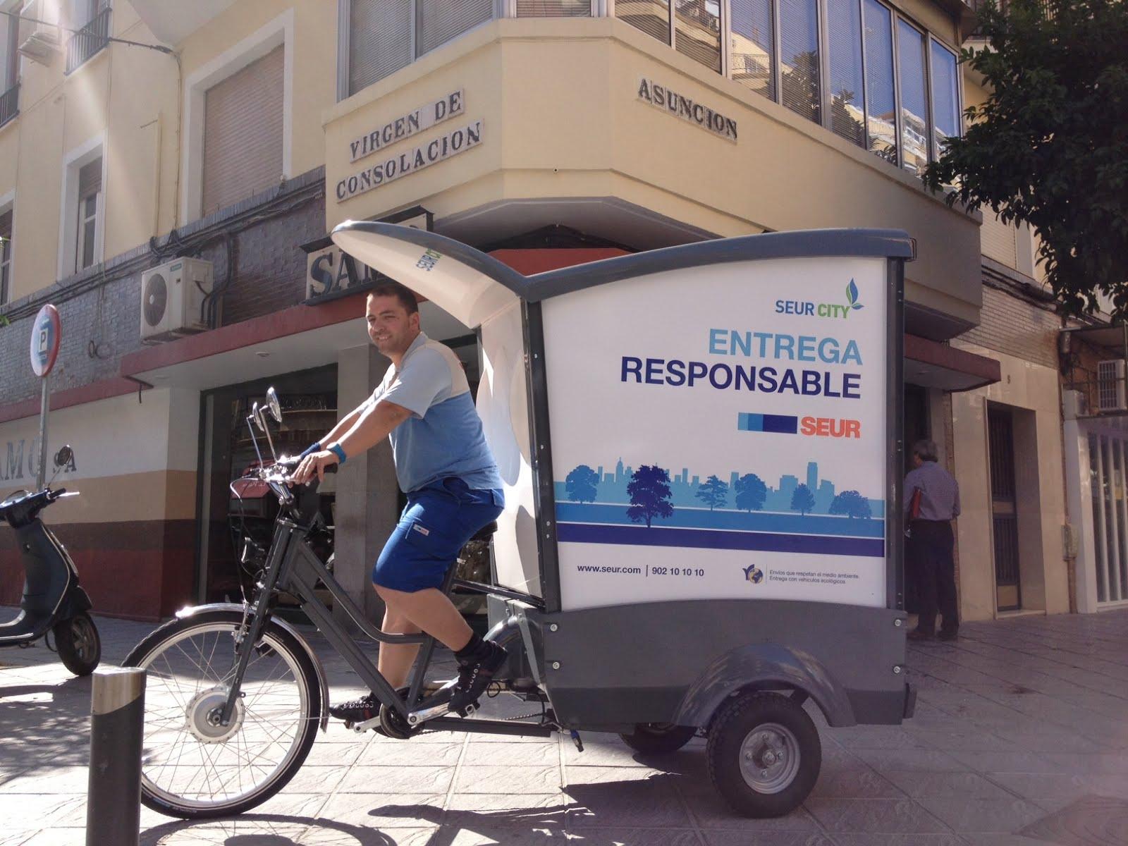 Novo log stica blog reparto ecolol gico en bicicleta de for Seur sevilla oficinas