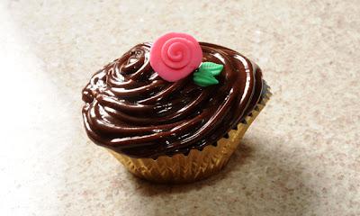 Cupcake de cenoura com cobertura
