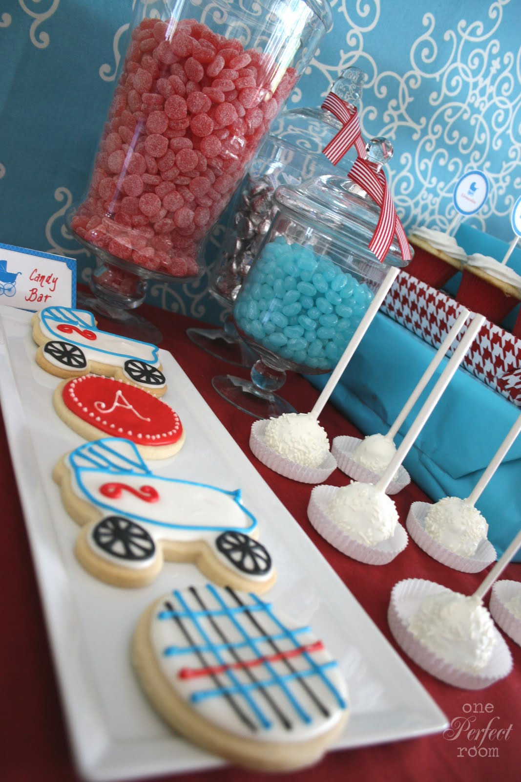 One Perfect Room : Vintage stroller baby shower