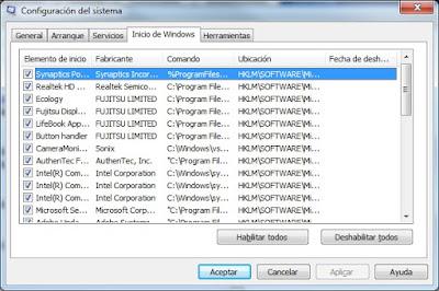 MSCONFIG: Utilidad de configuración del sistema