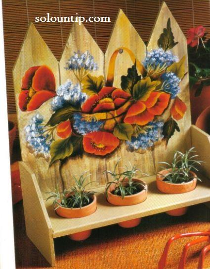 Pintura en madera manualidades bonitas - Manualidades de madera paso a paso ...