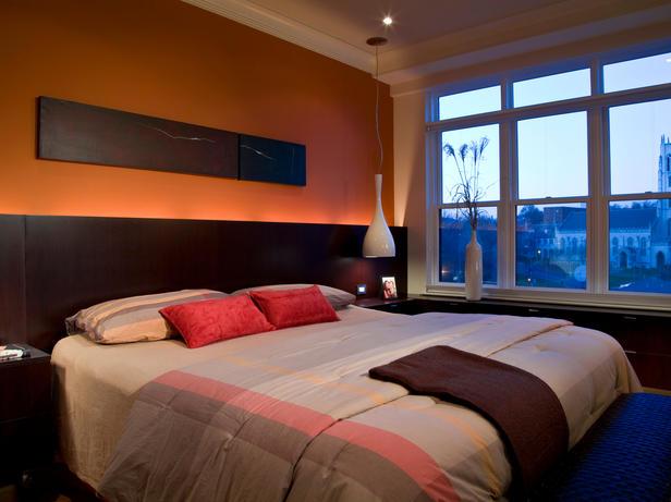 Modern house images of modern orange bedroom decoration ideas - Orange bedroom decorating ideas ...