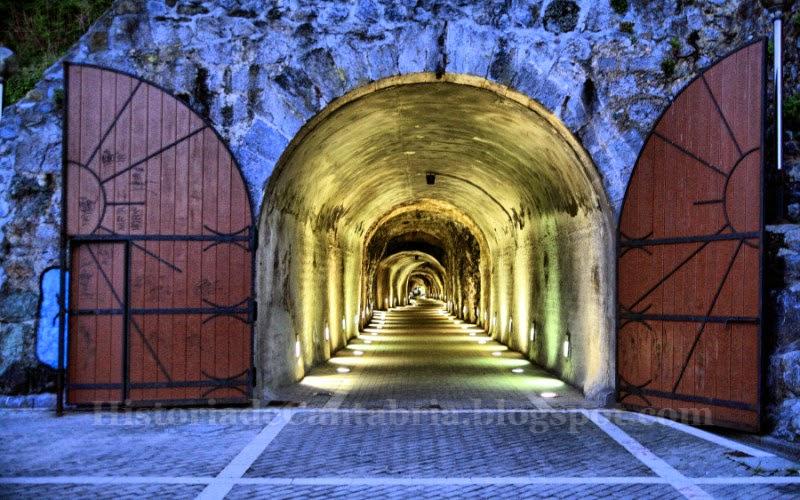 Boca norte del túnel de Laredo