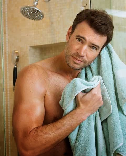 Shirtless Scott Foley is the new face of Charisma linens