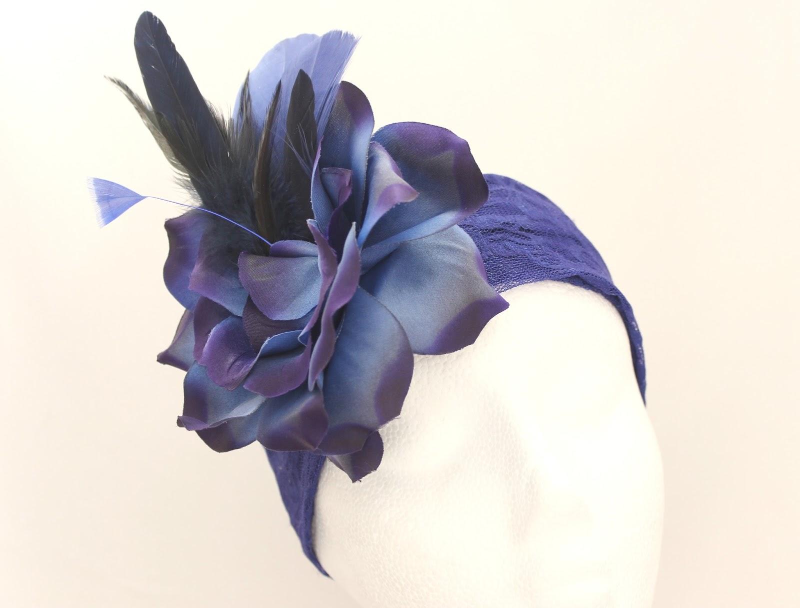 Colección Zinnia - Diadema Tocado Azul