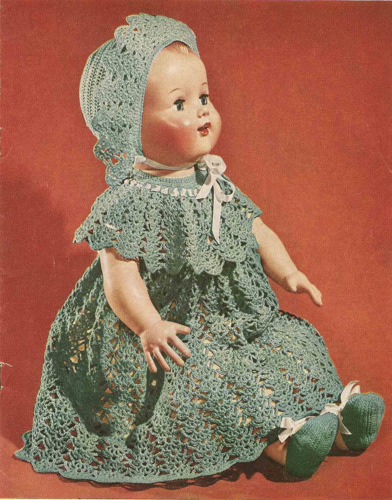 Crochet Patterns For Doll Clothes : Vintage Knit Crochet Pattern Shop: The Doll Book, Crochet ...
