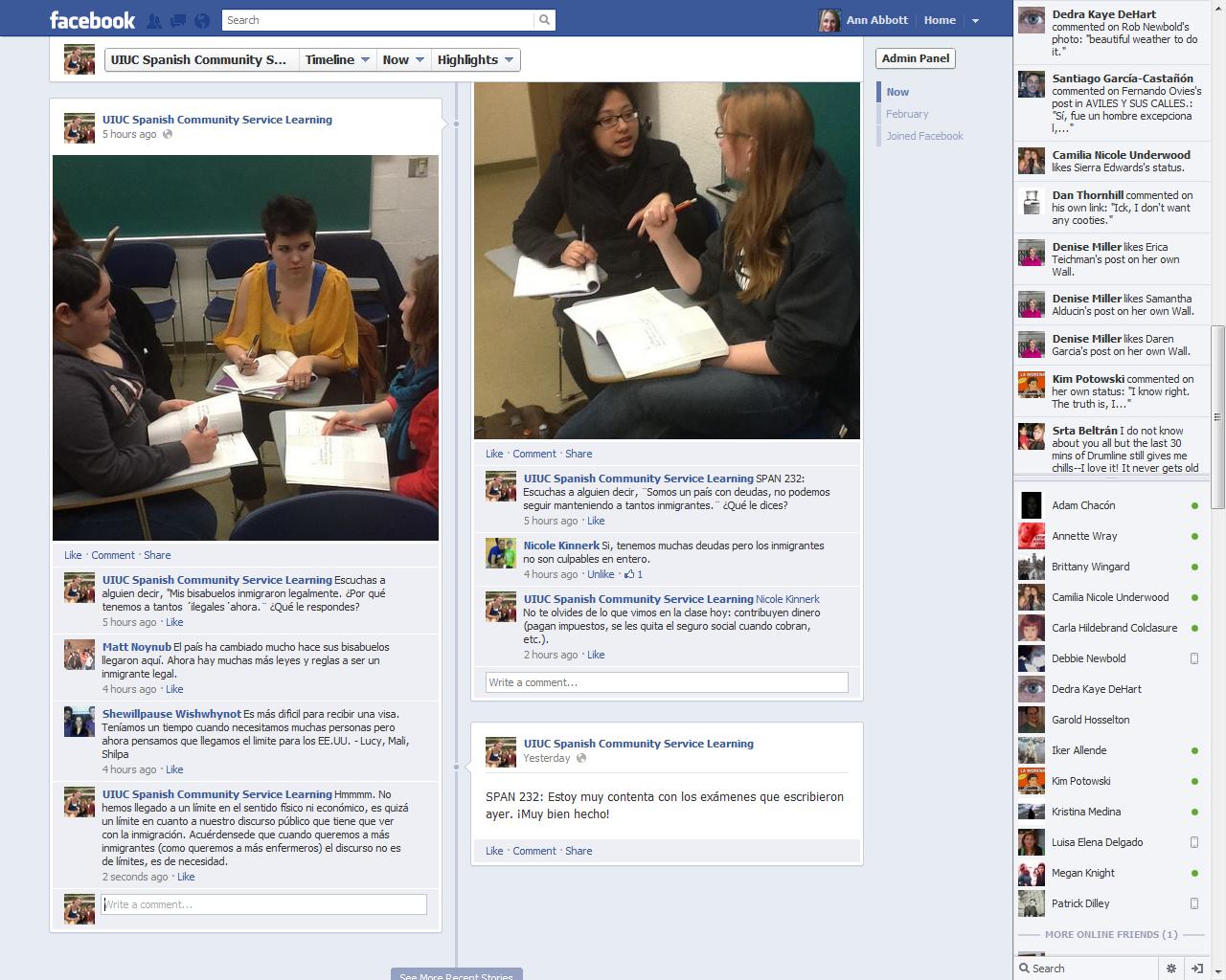 Spanish & Illinois: Using Facebook to Teach Spanish Community ...