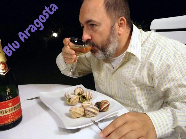 lumache alla bourguignonne in crosta di pistacchi, escargot à la bourguignonne en croûte de pistaches