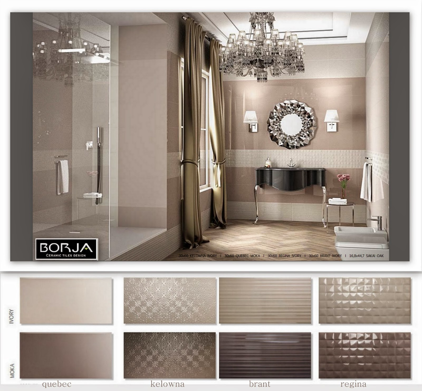 Walls 30x60   One Of The Most Popular Bathroom Collections 2015