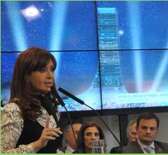 Cristina Kirchner anuncia la construcción en Buenos Aires del edificio más alto de Latinoamérica