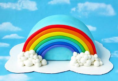 Cake πινιάτα ουράνιο τόξο