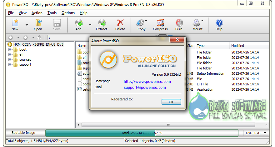 Power Iso v6.0 32Bit & 64Bit Full Version Terbaru