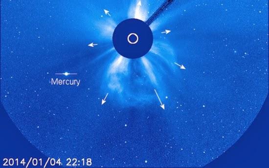 Bumi Diterpa Badai Matahari Hari Ini, 6 Januari 2013