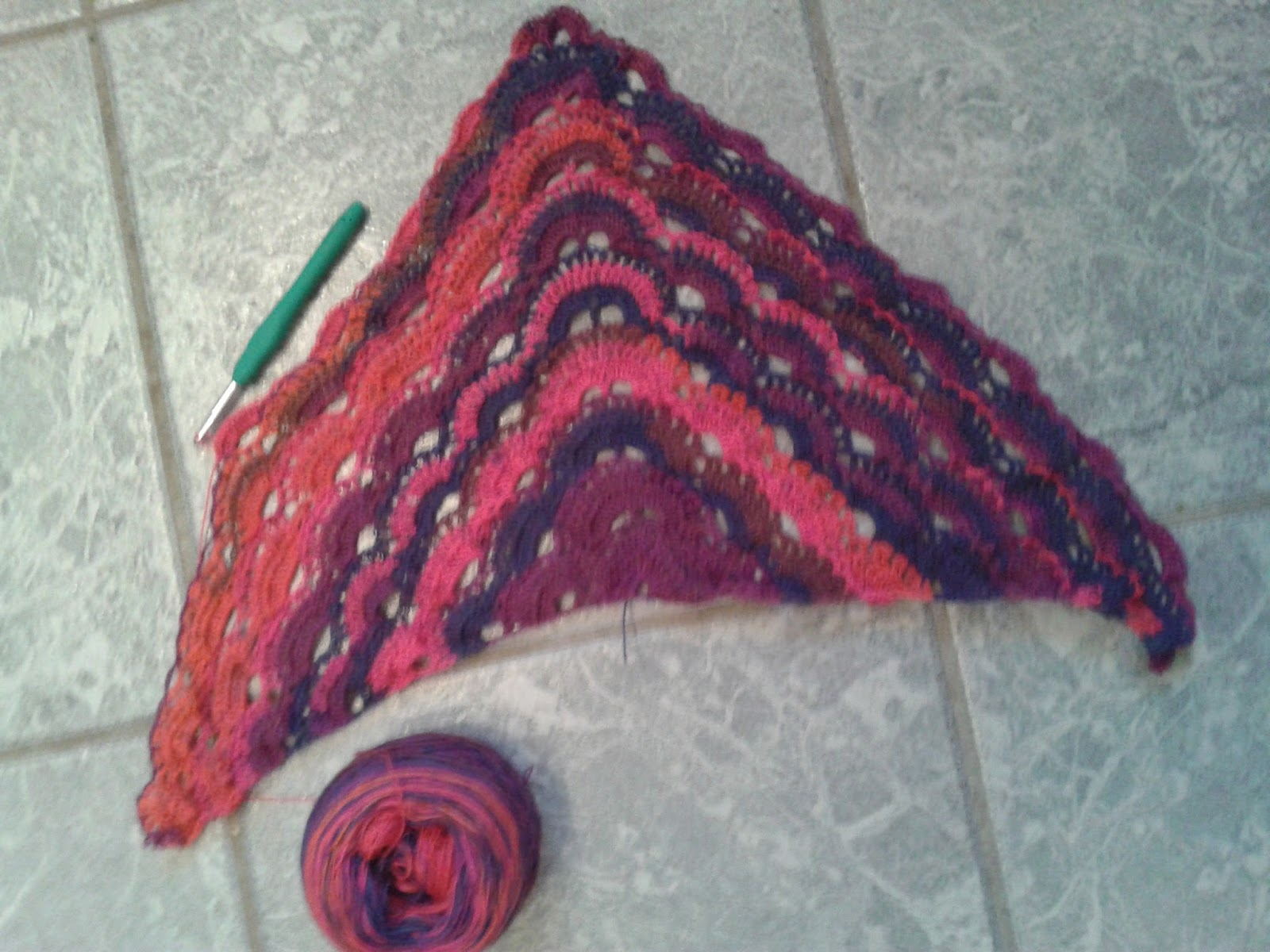Crochet Pattern Virus Shawl : funkycrochet: Crochet Shawls : Fortunes Shawlette, Virus Shawl and a ...