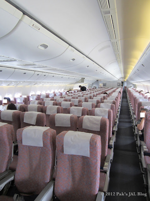 ex-JAS economy class cabin with Regular Seats