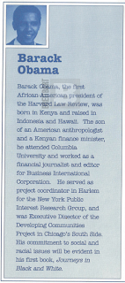 Obama's Literary Agent in 1991 Booklet Born in Kenya and raised in Indonesia and Hawaii
