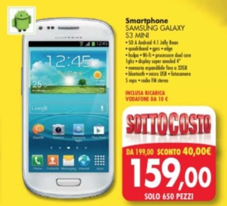 Sottocosto Samsung Galaxy S3 mini a 159 euro da Emisfero