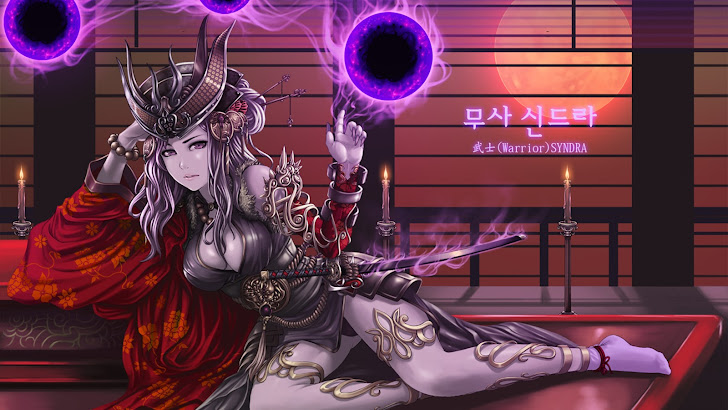 warrior syndra art league of legends game lol girl